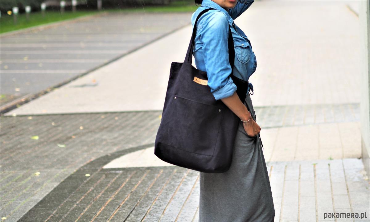 Duża torba szoperka Mili Chic MC4 black
