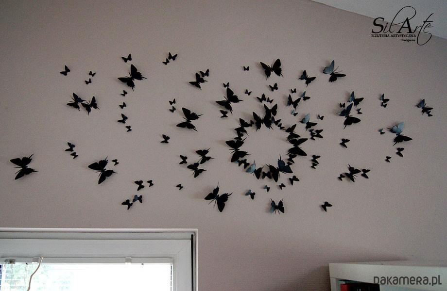 Trójwymiarowe Motyle 3d Do Ozdobienia ściany Kpl Pakamerapl