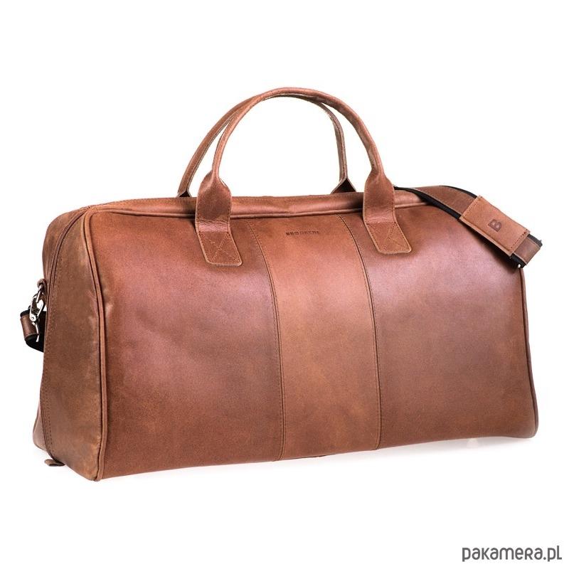 76871eaaf793a akcesoria - torby i nerki - męskie-Jasnobrązowa podróżna torba weekendowa