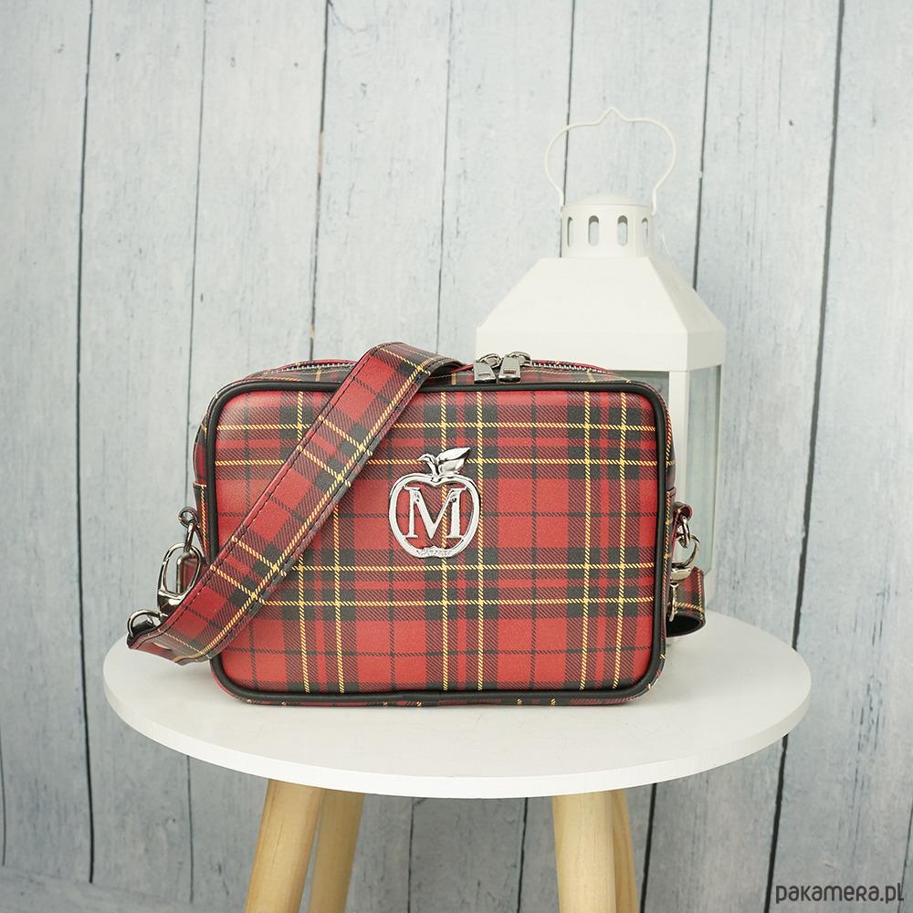 f35bb637433a8 torby na ramię - damskie-Listonoszka typu CHANELKA szeroki pasek KRATKA