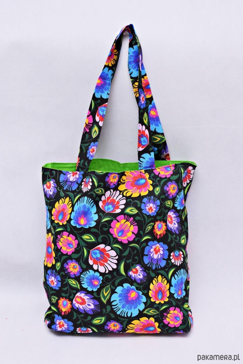 5a242365f5e53 Torba na zakupy shopperka eko torba łowicz green - torby na zakupy -  damskie - Pakamera.pl