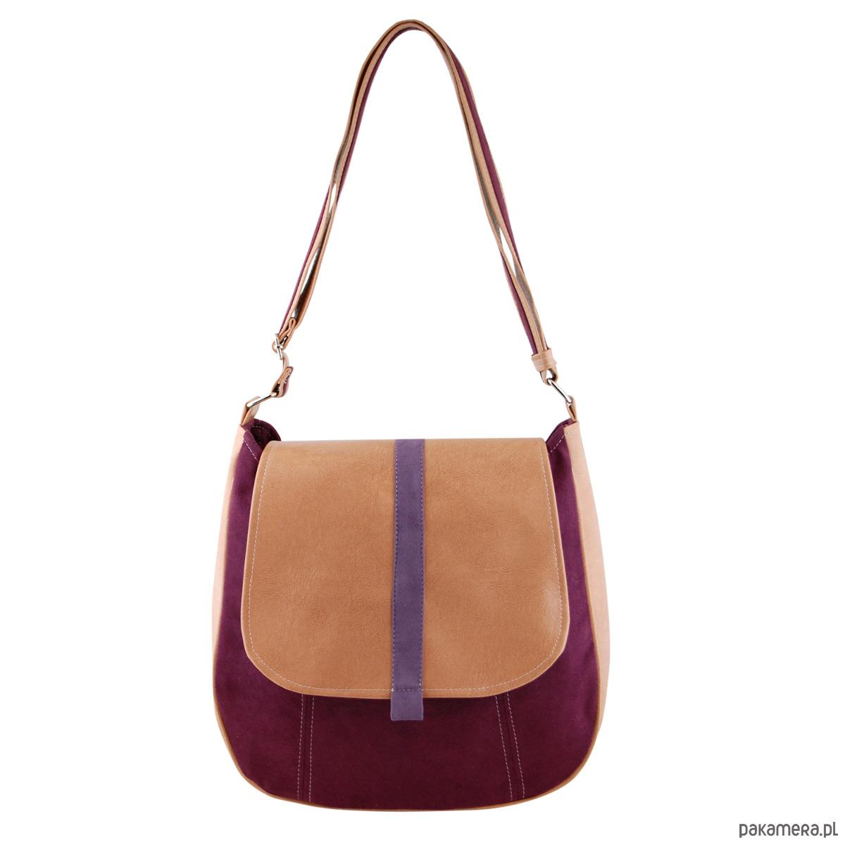 c551089708573 SASHKA - torebka na ramię - beż i bordo - torby na ramię - damskie -  Pakamera.pl