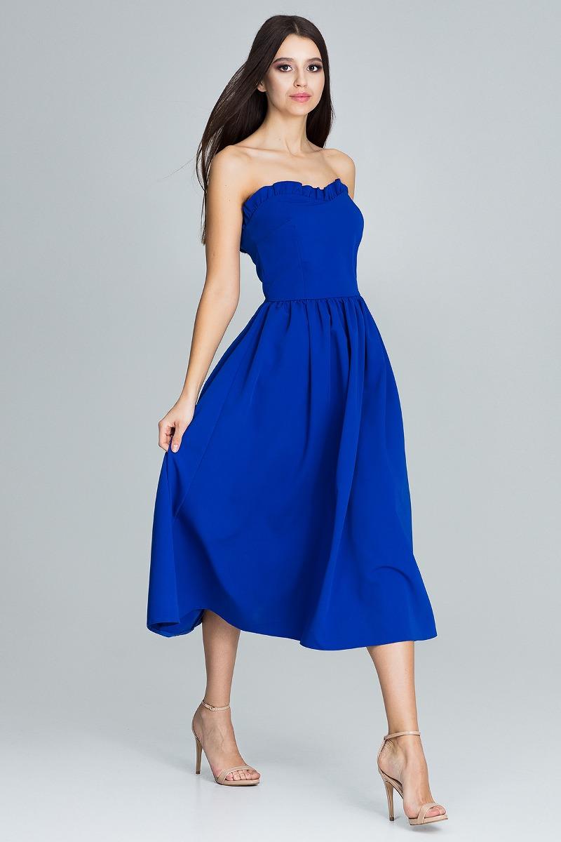 Sukienka midi m602niebieski