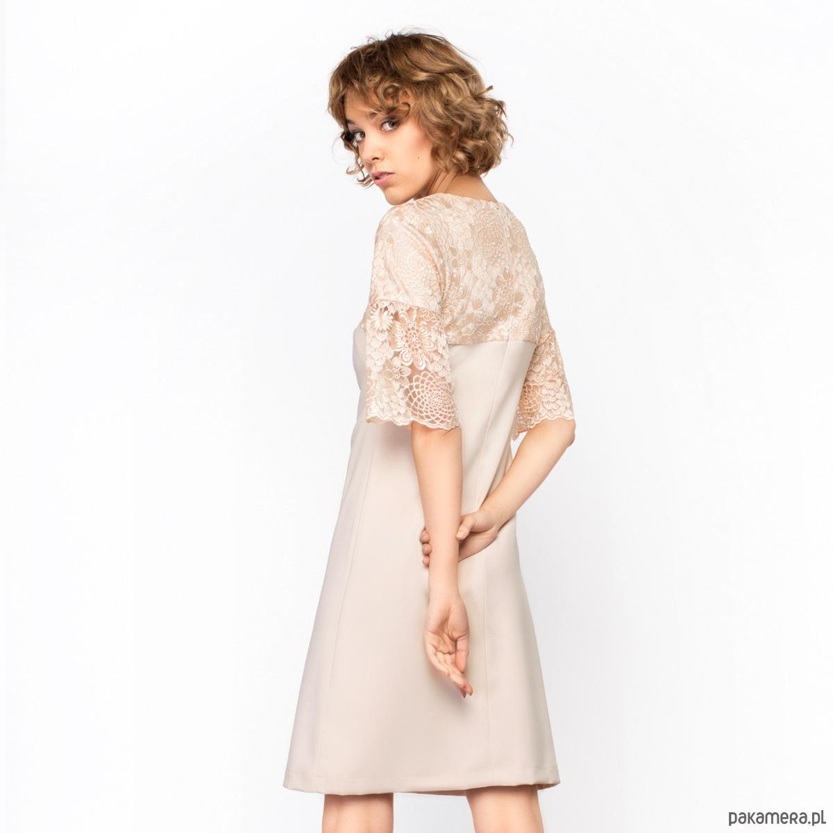Sukienka Elena Kremowa