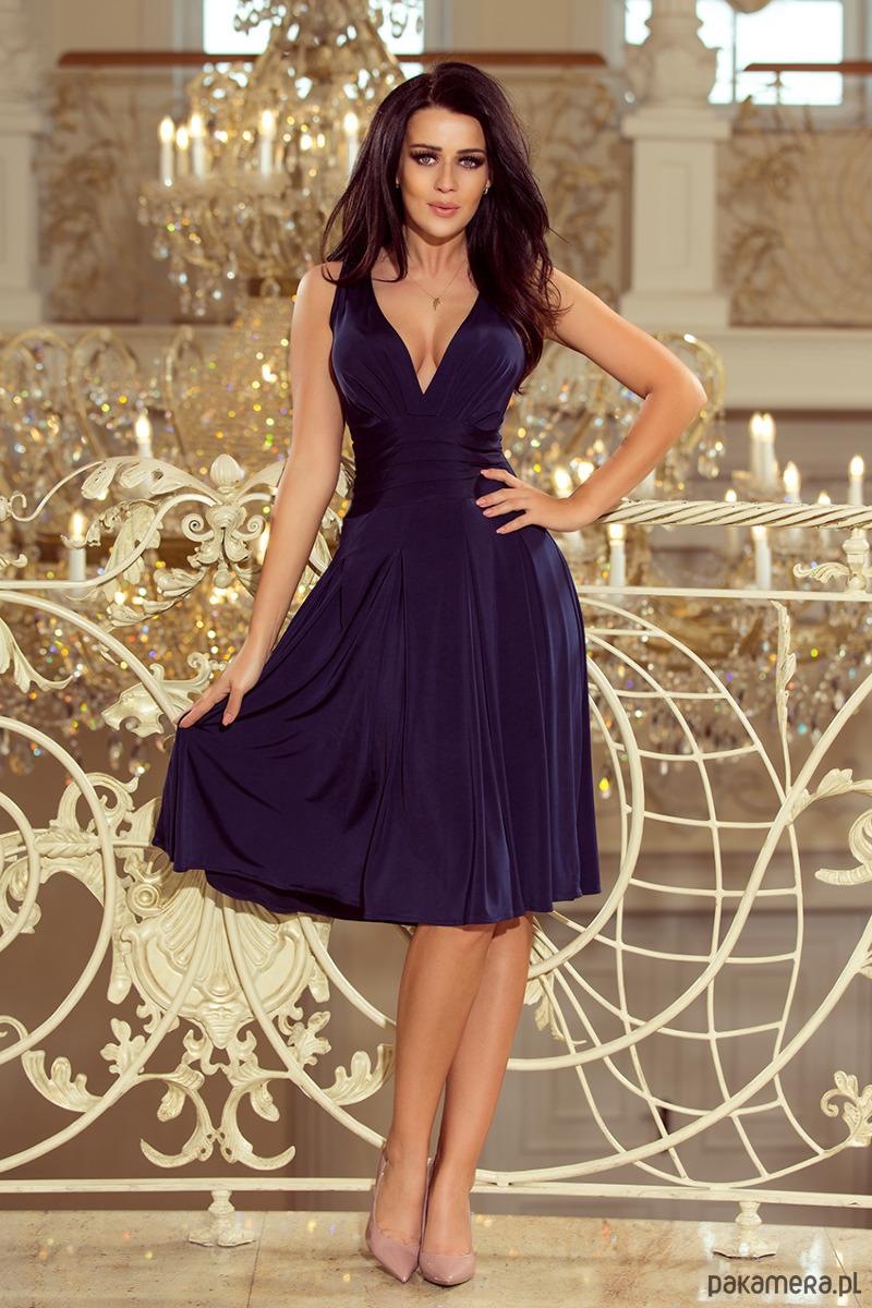 a02ce72eed 219-1 GIULIA - Rozkloszowana sukienka midi - sukienki - midi ...