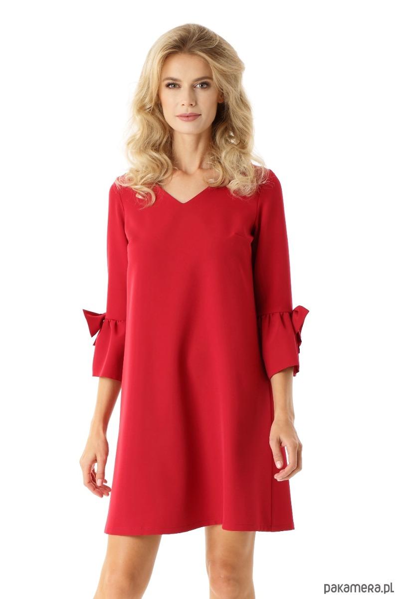 f4ac9dc497 Sukienka trapezowa Melody malinowa - sukienki - mini - Pakamera.pl