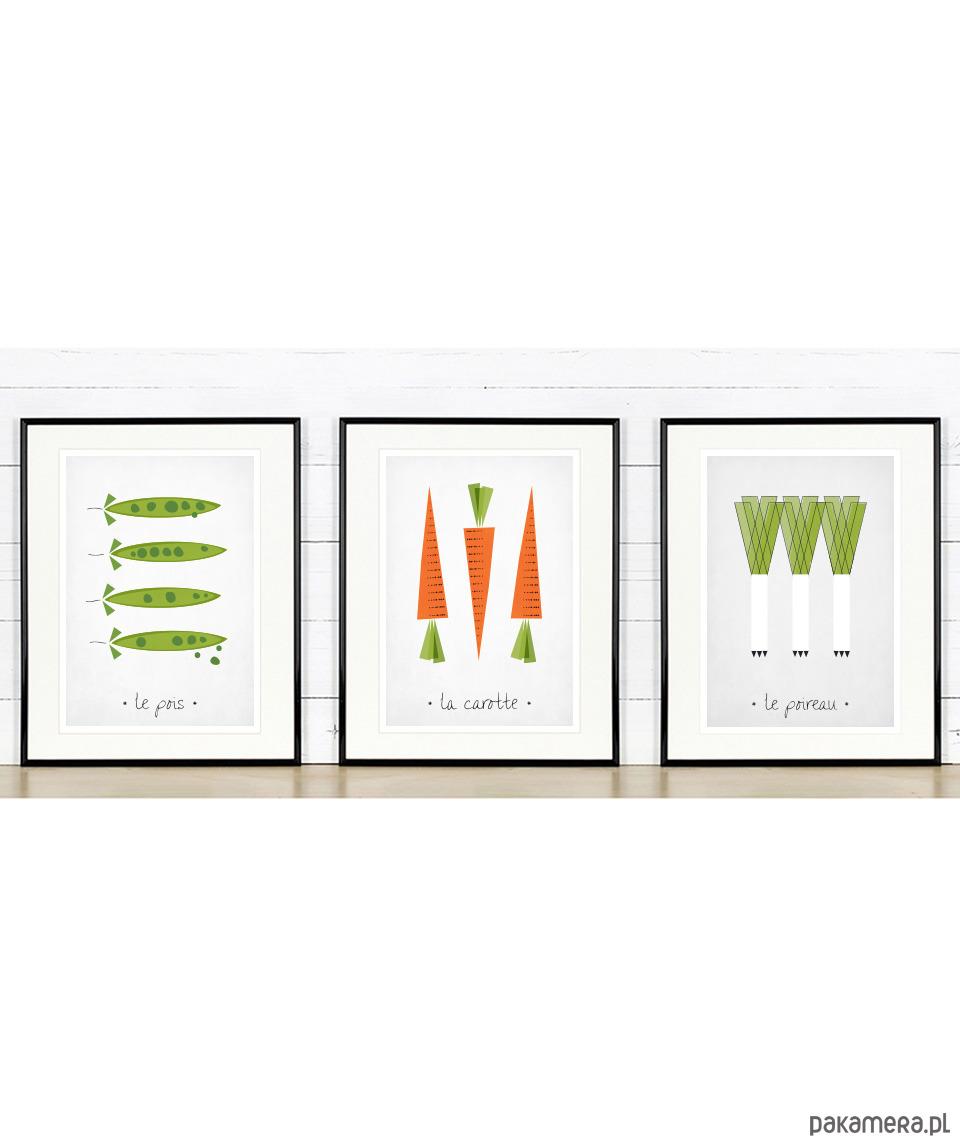 Zestaw Plakatów Do Kuchni 3xa3 Warzywa Pakamerapl