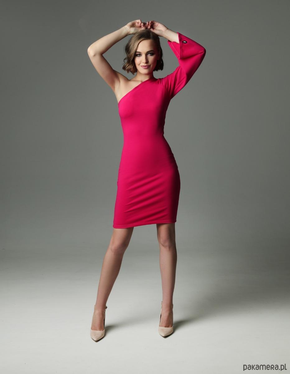 Sukienka HELLISH ELLIE - fuksjowa