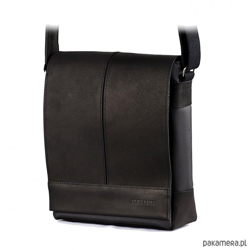 5ad9714cc37a3 akcesoria - torby i nerki - męskie-Grafitowa saszetka męska na ramię