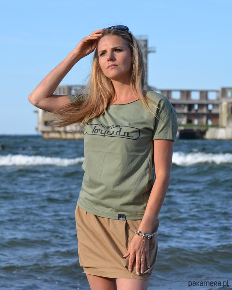 T-shirt oversize zielony NIEZŁA TORPEDA