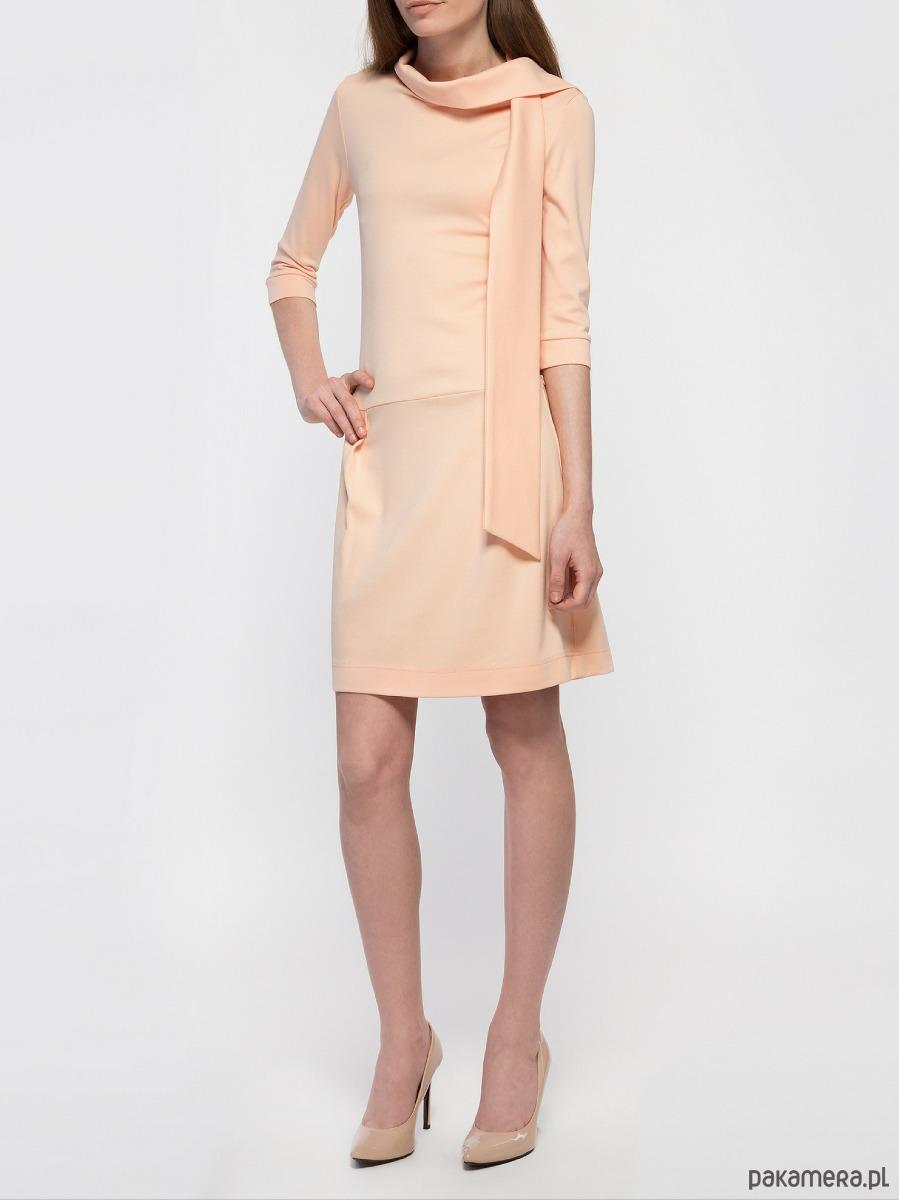 Sukienka łososiowa YY200105_RAL2012