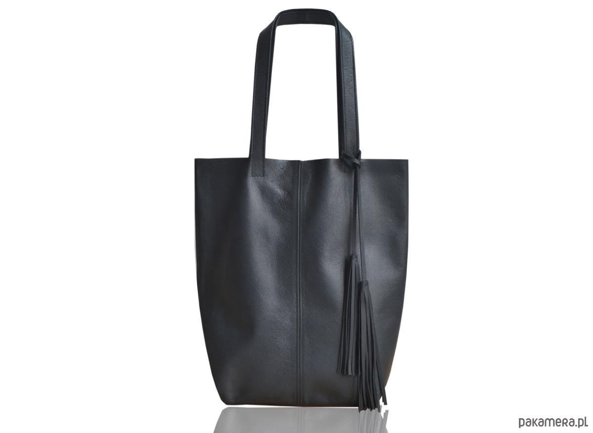 7444172b28088 Shopper skóra naturalna - torby na ramię - damskie - Pakamera.pl