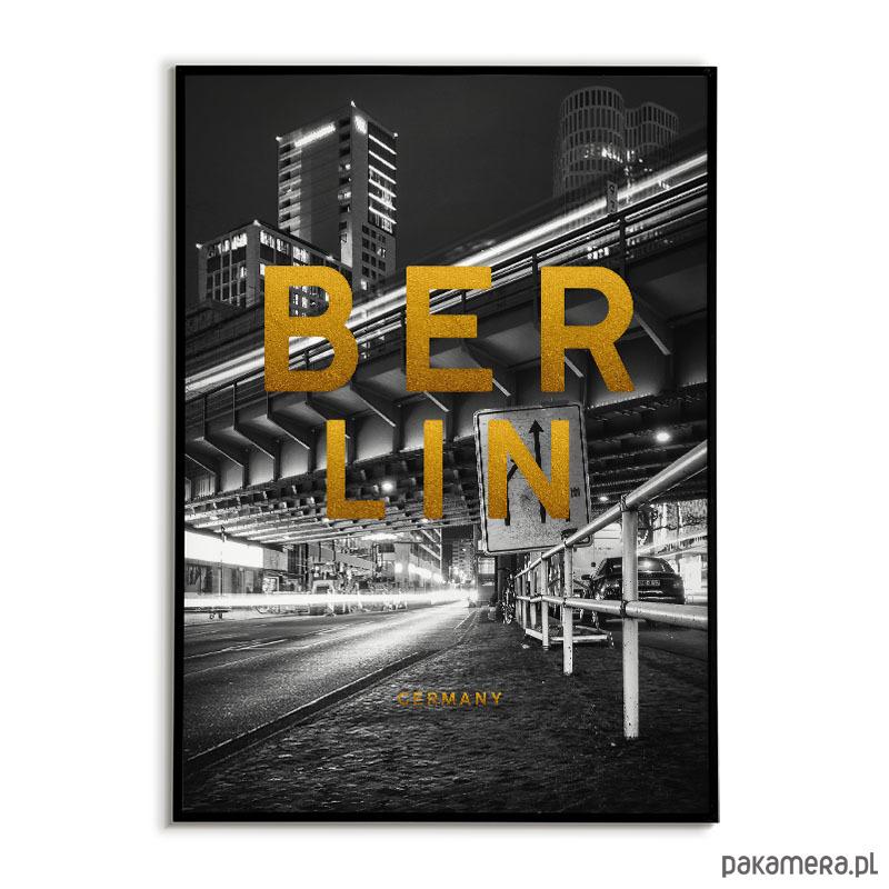 Plakat Miasto Berlin Złote Napisy Pakamerapl