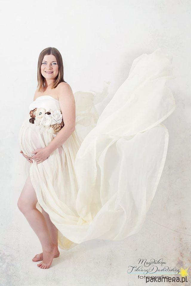 68805e9392 sukienki - różne-Suknia ciążowa