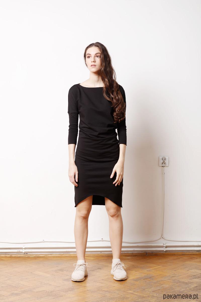 ce4a145b97 Wygodna Dzianinowa Sukienka mała czarna - swetry - Pakamera.pl