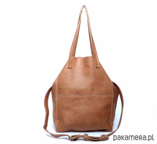 c5cd0a61f5bd4 Austraalia camelowa duża skórzana torba - torby na ramię - damskie ...