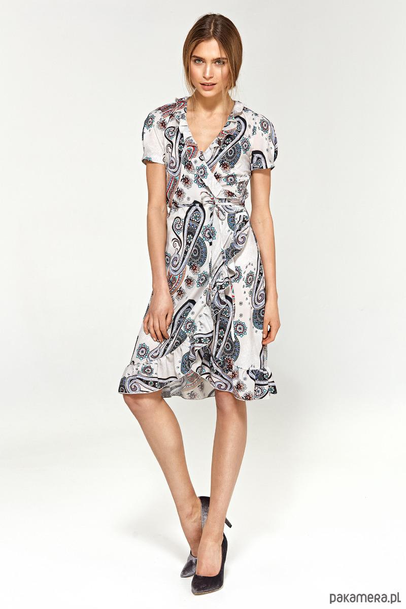 Letnia sukienka z falbanami s99 - wzór