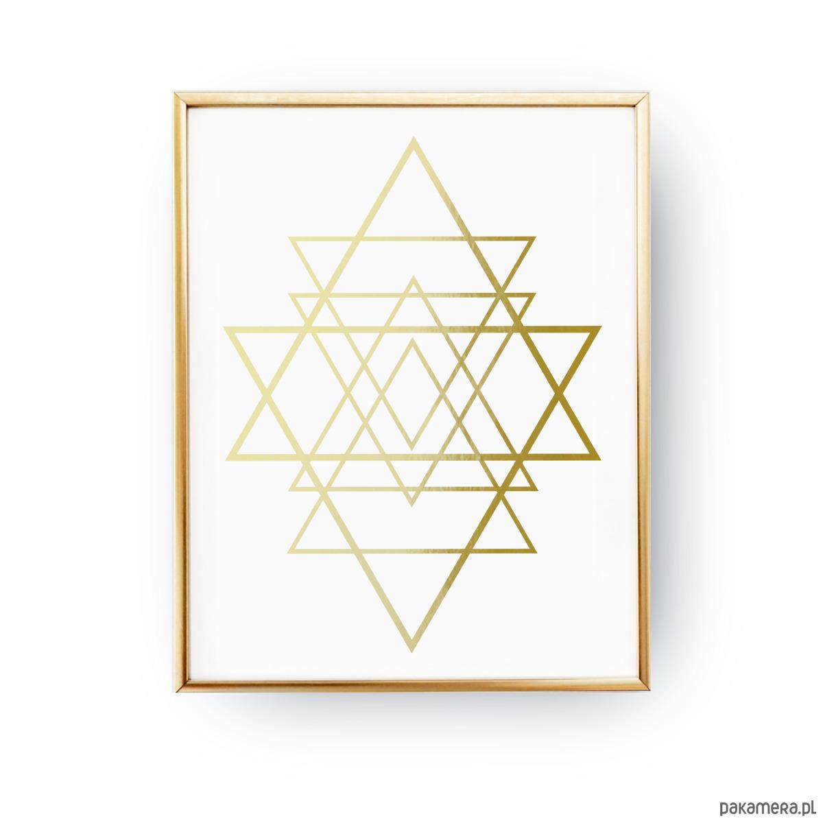 Geometryczna Gwiazda Złoty Druk Pakamerapl