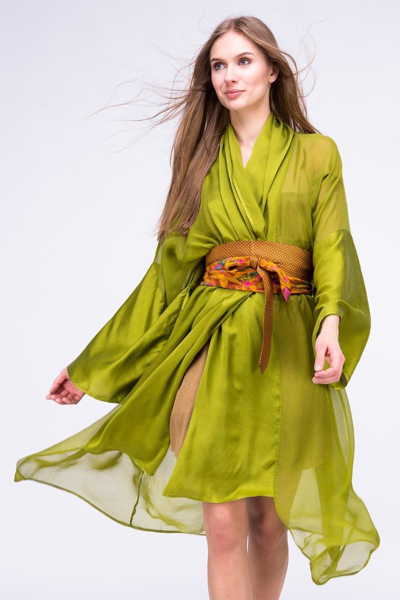 Sukienka-kimono WEZEN Pistacjowa
