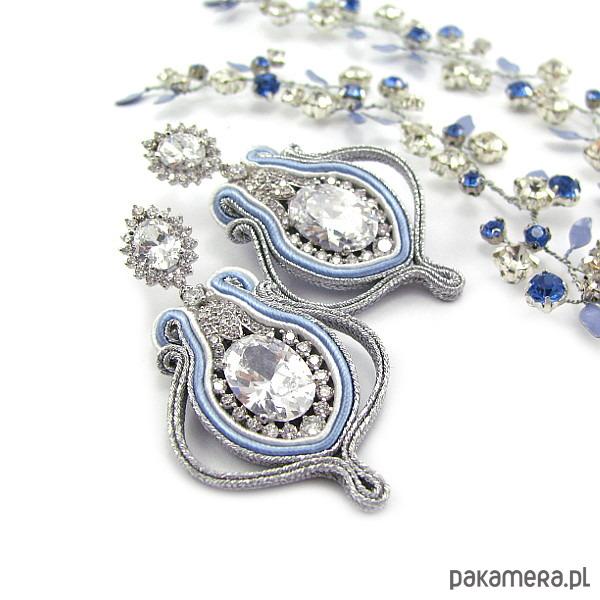 e8e59984 Kolczyki ślubne sutasz - serenity blue. - Biżuteria ślubna - Pakamera.pl