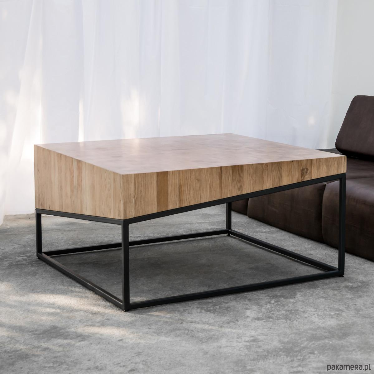 Fantastyczny Stolik kawowy lity dębowy Drewno Design Loft Dąb - meble - stoły i FE42