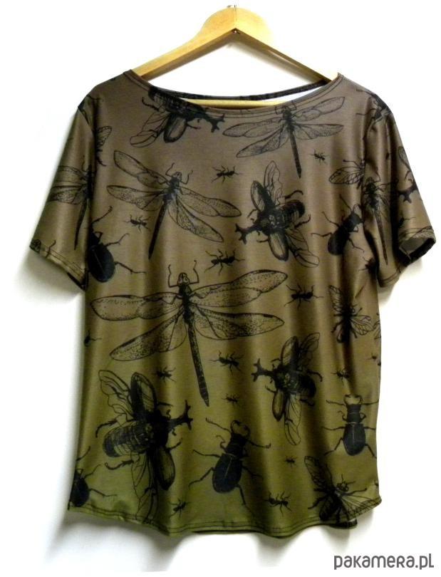 Bluzka damska,t-shirt ze wzorem robaczki S-XL