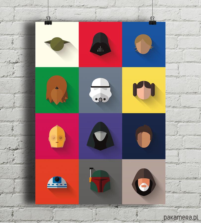 Star Wars Icon Set Plakat Giclee Print A2 Pakamerapl