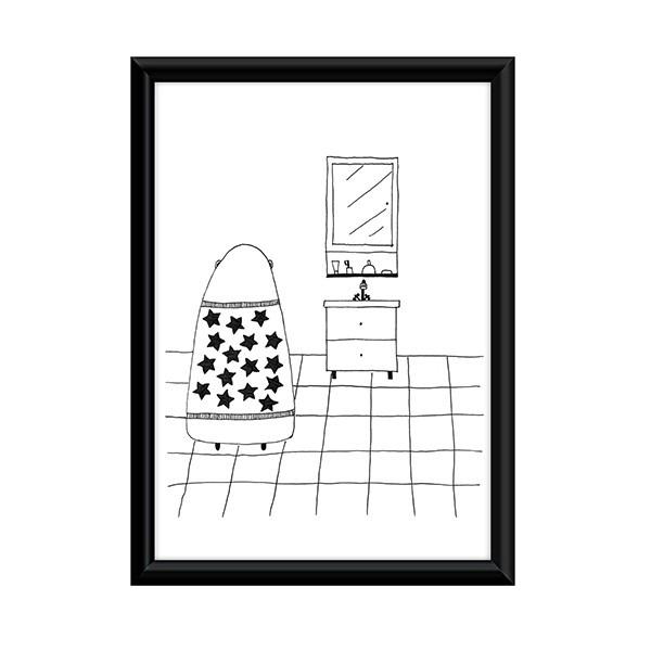 Plakat Miś W łazience Pakamerapl