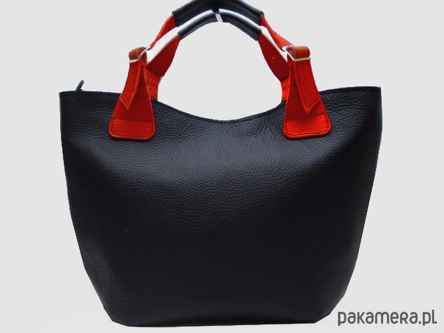 bd788f1e5c0b3 Kupić.pl - Pakamera - Shopper XL torba czarna z teksturą na zamek