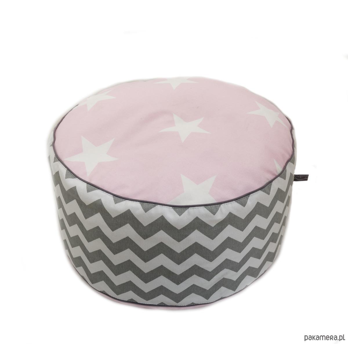 poducha do siedzenia- z kolekcji Pink Star - 2037645