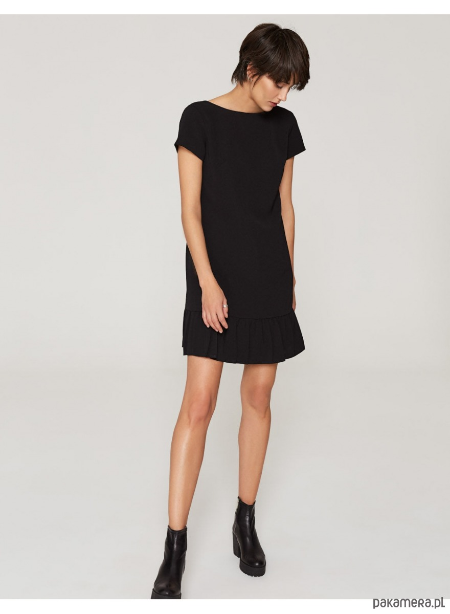 37ef0f538d Sukienka z dekoltem V czarna - sukienki - mini - Pakamera.pl
