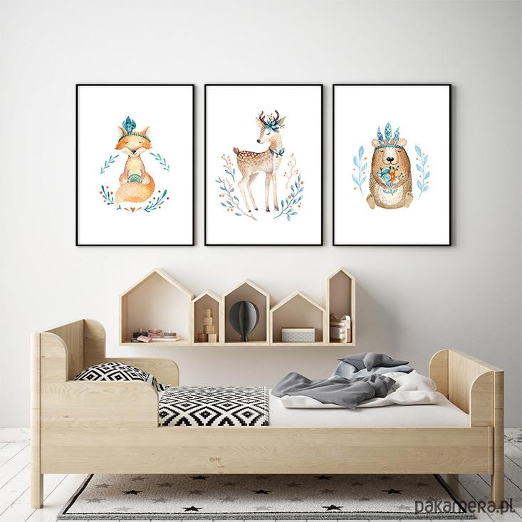 Leśne Zwierzęta Plakaty Obrazki Dla Dzieci Pakamerapl