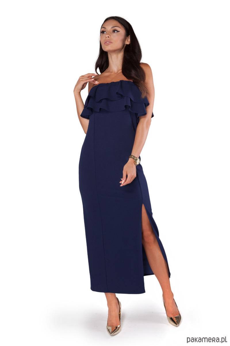 Sukienka S130 GRANATOWY