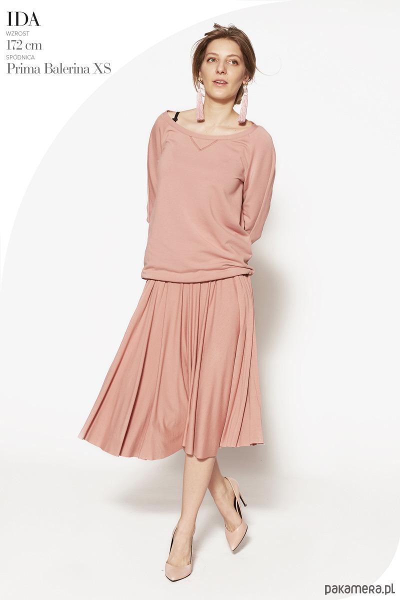 spódnica PRIMA BALLERINA szminkowy róż