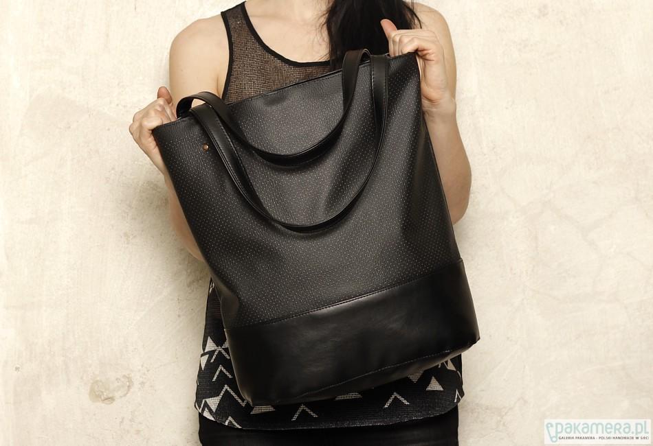 6cbc98311cec9 Shopper bag xl czarna - torby na ramię - damskie - Pakamera.pl