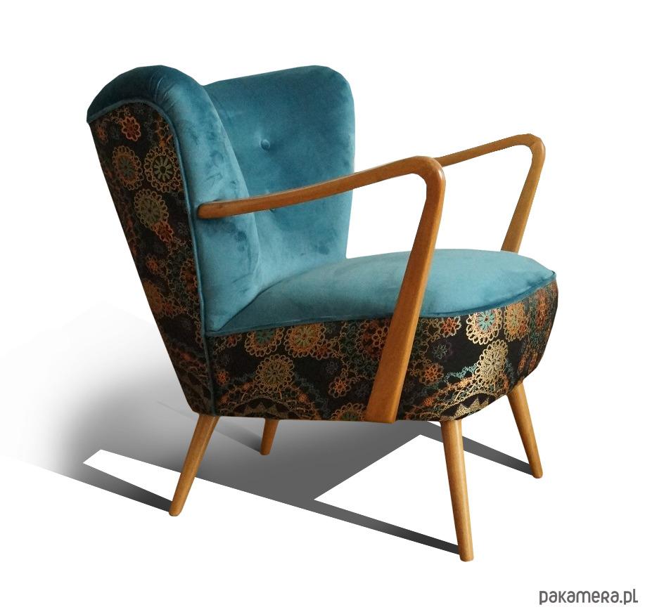 Fotel Klubowy Uszak Lata 50 60 Prl Art Deco Pakamerapl