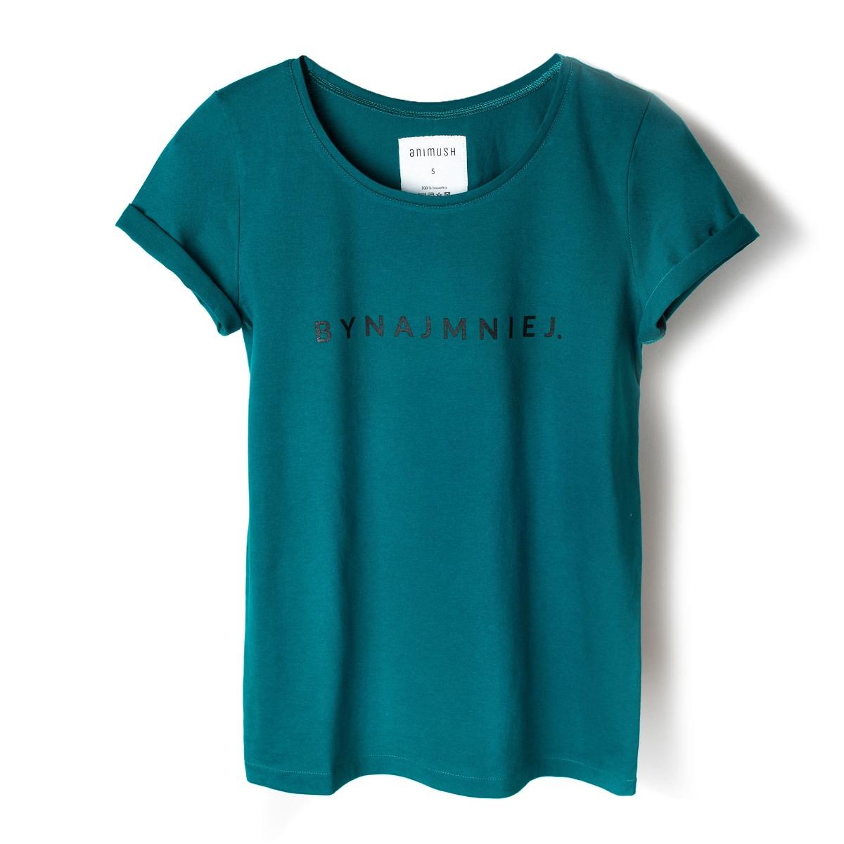 T-shirt szmaragdowy BYNAJMNIEJ.