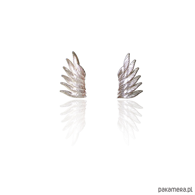 3c1f8be219fce8 Srebrne kolczyki skrzydła anielskie - kolczyki - srebrne - Pakamera.pl