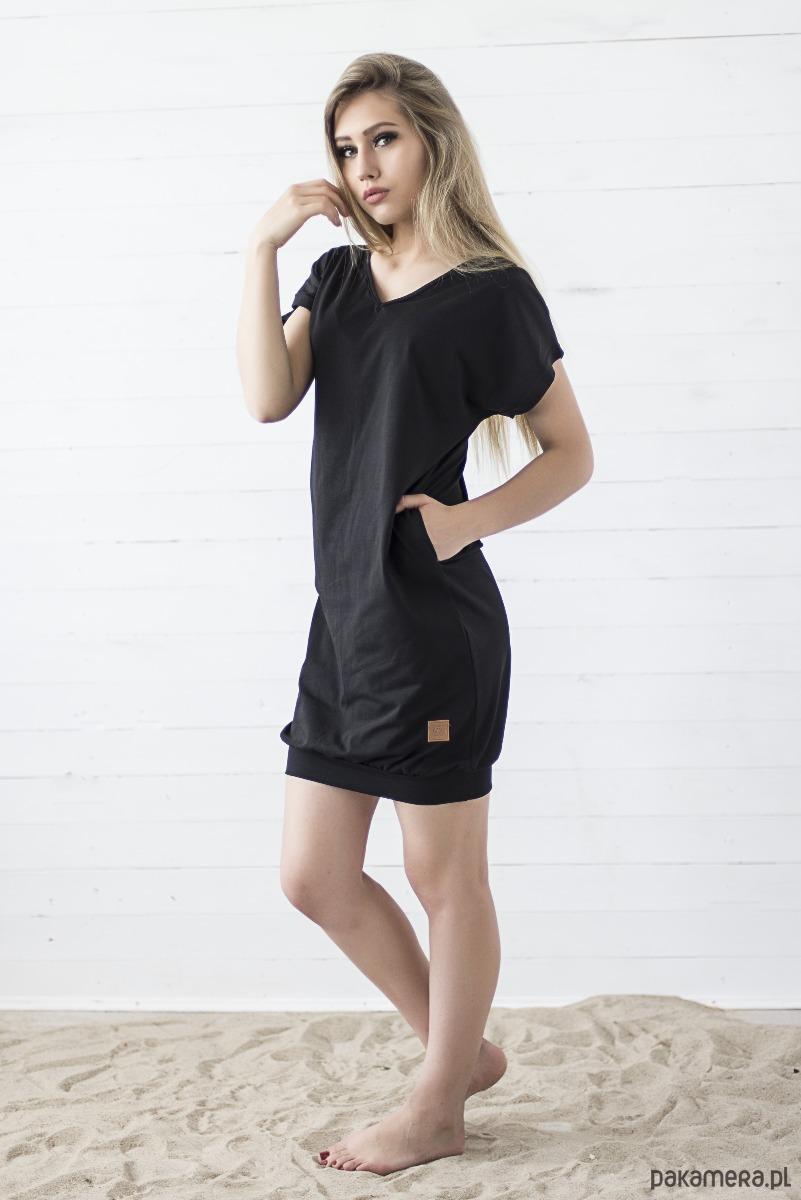 Sukienka V-Neck - czarna
