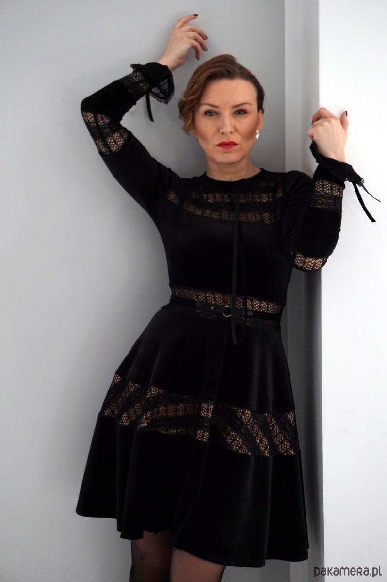451b641820 Sukienka welurowa wszystkie rozmiary JORDJA - sukienki - mini ...