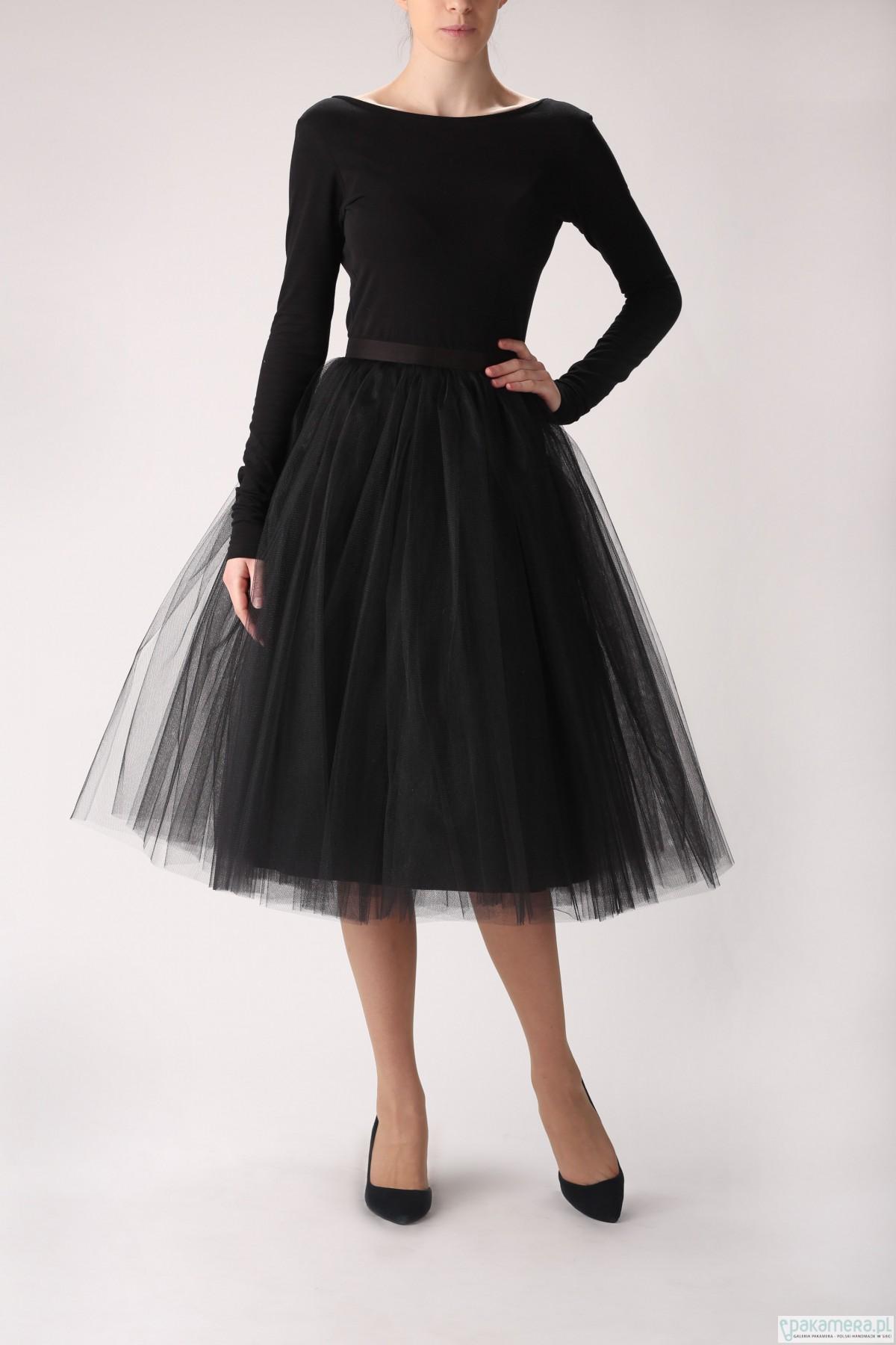 Spódnica tiulowa S031 long czarna na zamówienie