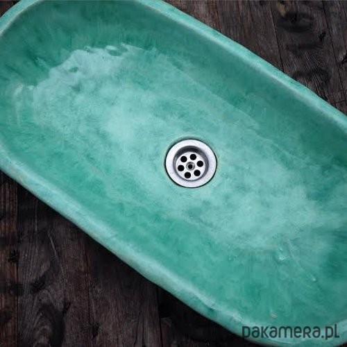 Umywalka Owalna Aqua Blue Dodatki łazienka Umywalki Pakamerapl
