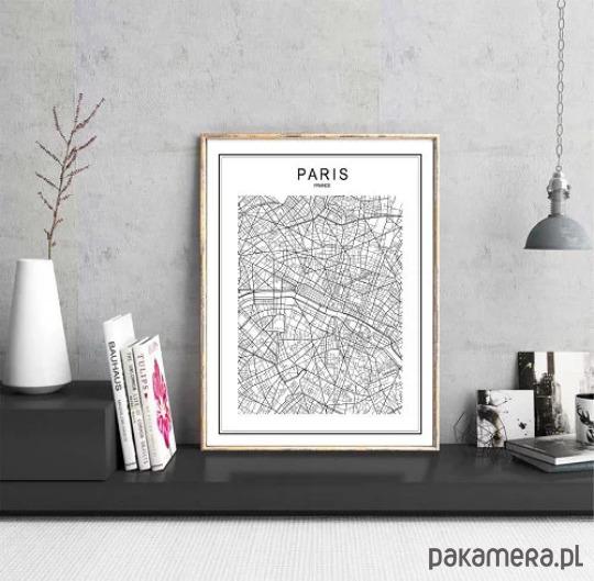 Plakat Mapa Paryż Paris Francja Plan Miasta Pakamerapl