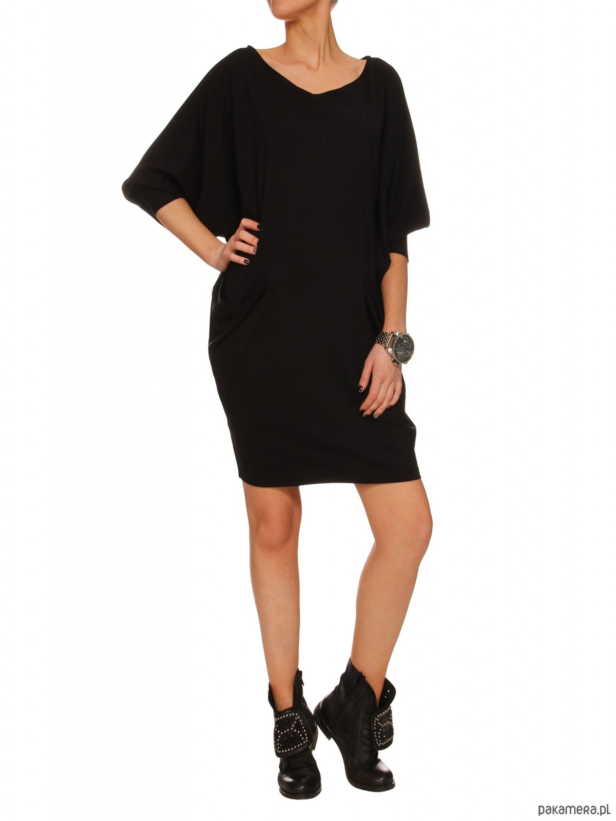 Sukienka czarna YY100149_RAL9005