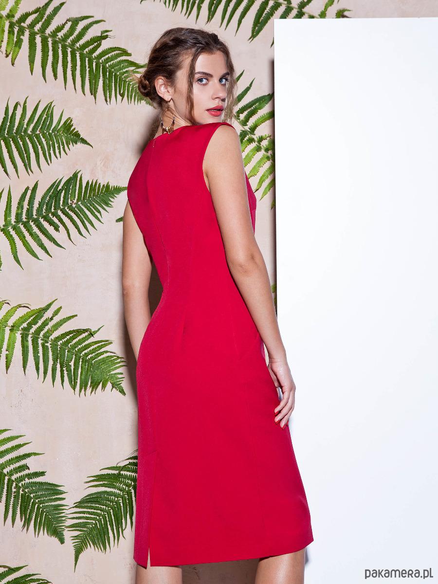ELEGANCKA OŁÓWKOWA Sukienka ORZECHOWY