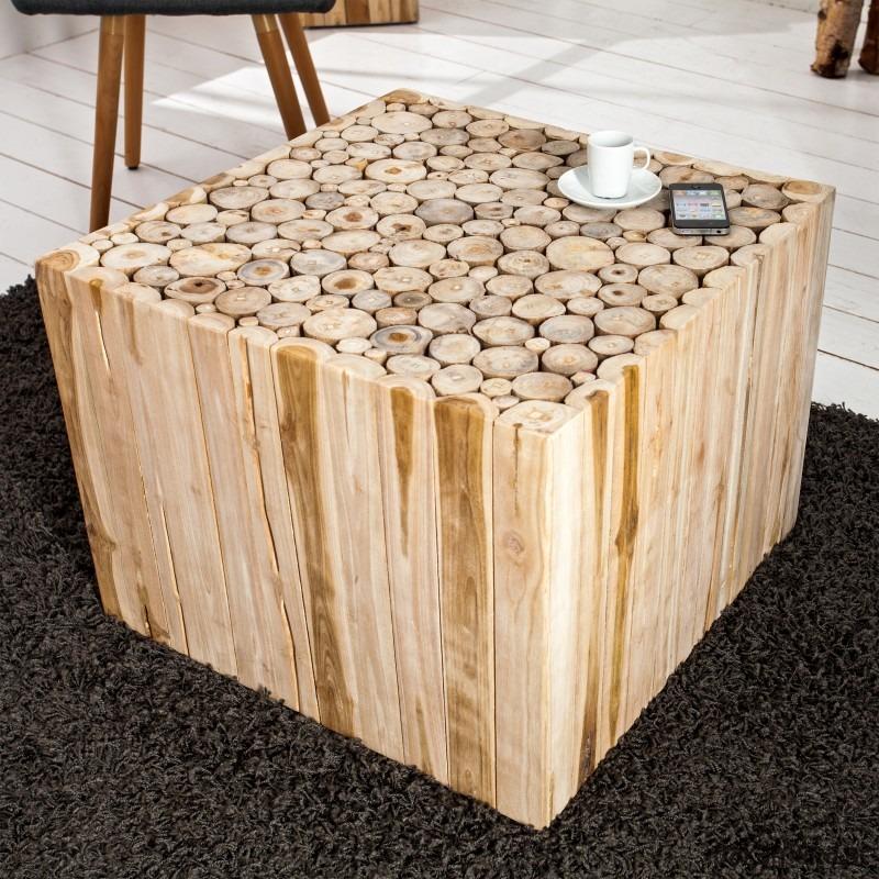 Stolik Kawowy Mosaic Drewno Driftwood 60cm Pakamerapl