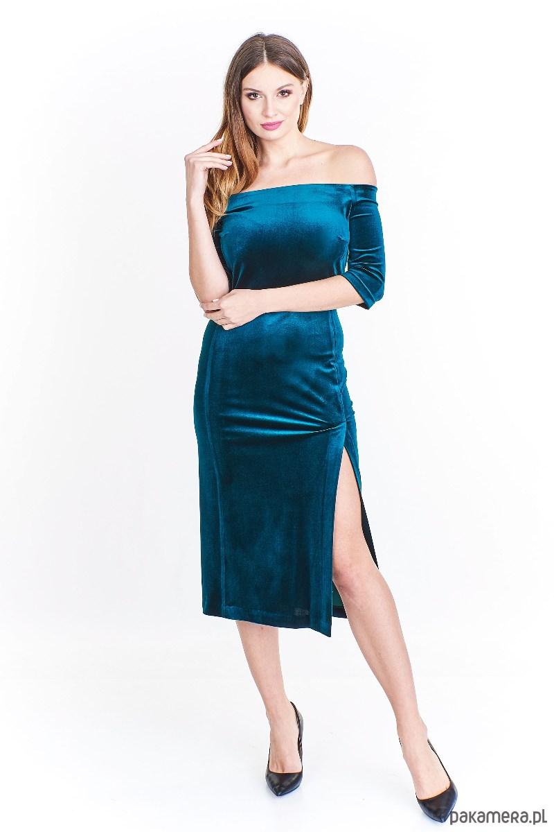 Sukienka Iseel z dekoltem carmen