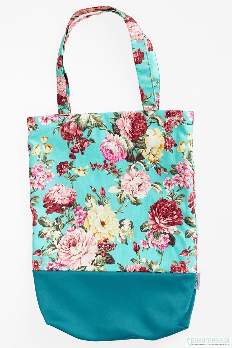 42f4d513160bf Jeansowa torebka na zakupy w kwiaty - torby na zakupy - damskie -  Pakamera.pl