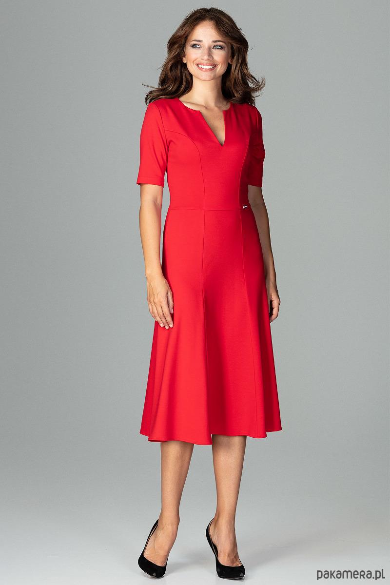 Sukienka K478 Czerwony
