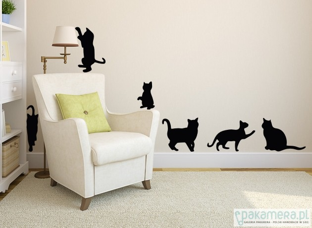 Koty Naklejka ścienna Plakaty Ilustracje Obrazy Inne Pakamerapl